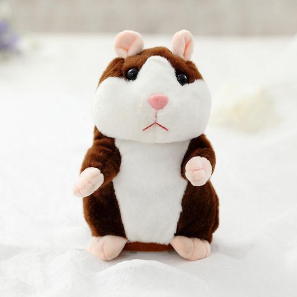 Förderung 18 cm Schöne Sprechen Hamster Sprechen Sprechen Schallplatte Wiederholen Gefüllte Plüschtier Kawaii Hamster Spielzeug Für Kinder Geschenke