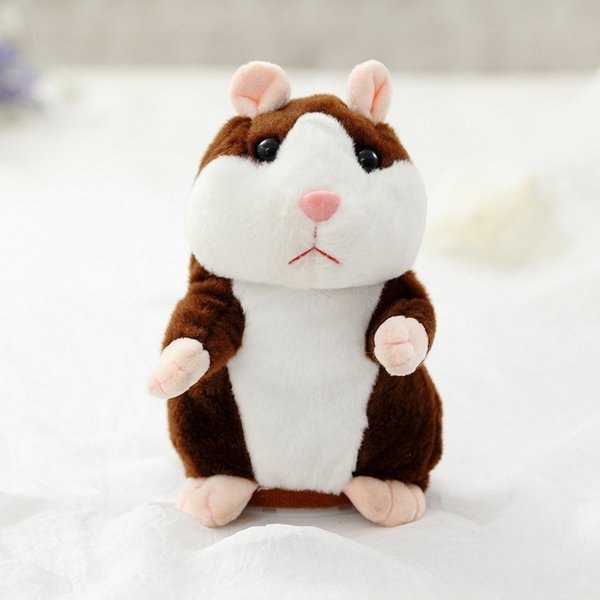 Promotion 18cm Lovely Talking Hamster Speak Talk Sound Record Repeat Stuffed Plush Animal Kawaii Hamster Toys For Children Gifts