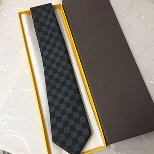 Designer hommes cravate de mode marque de haute qualité 100% soie business casual chemise cravate mode fil teints jacquard cravate cadeau boîte emballage