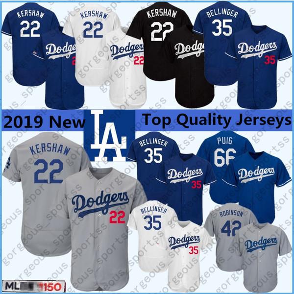 LA DODGERS KERSHAW Jersey T-Shirt 22 Grey Men/'s XL Sga New