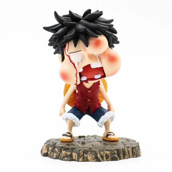 2019 10cm One Piece Zero Monkey D Luffy Punching Face Cute Lovely Pvc Action Figure Model Kawaii Toys With Box Figura Collectable From Diantoys