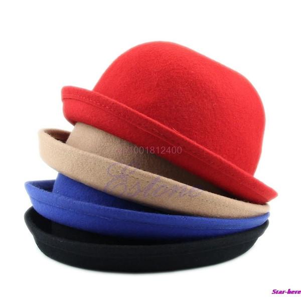 Fashion Lady Vogue Vintage Women/'s Wool Cute Trendy Bowler Derby Hat Fashion