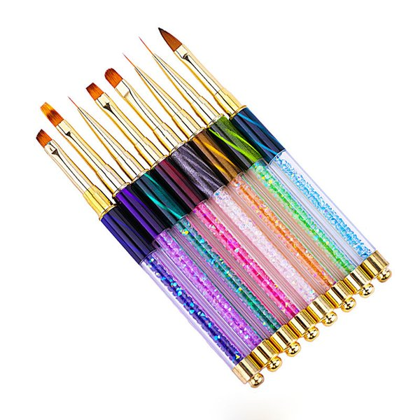 Top Quality Nail Art Nail Brush Gel Varnish Painting Drawing Lines Pen  Design Nail Brushes For Manicure Acrylic Nail Brush Art Brushes From