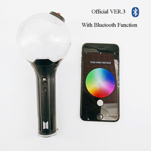 Kpop BTS Bomba oficial del ejército Enlace Bluetooth Ver.3 Light Stick Ver3 Kpop Bangtan Boys BTs Concierto Lámpara de destello de palo de luz resplandeciente