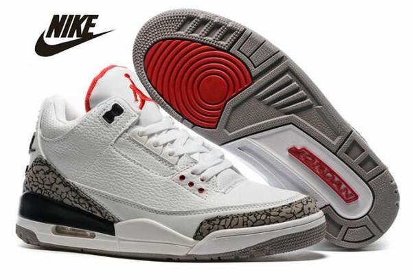 newest af66b 50187 2019 Nike Air Jordan Retro 3 Basketball Shoes 3s Jordan III Jordans Michael  Air Trainers Quai 54 Men Women Tinker Mocha JTH Mocha Charity Game Pure ...