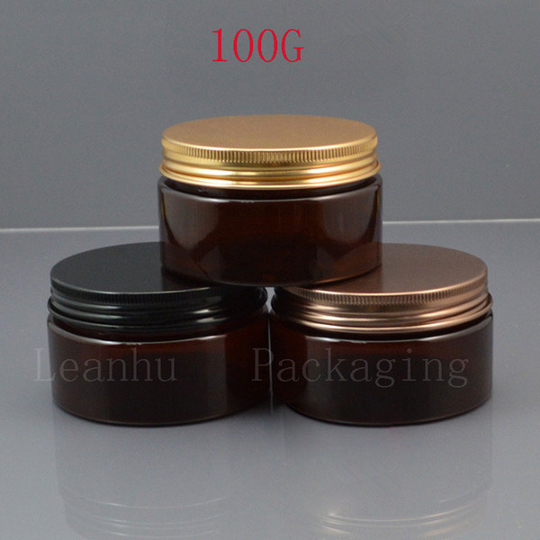 Brown Plastic Body Milk Cream Jar,Empty Cosmetics Packaging Container,100CC DIY Makeup Face Cream,Facial Mask Packing Containers