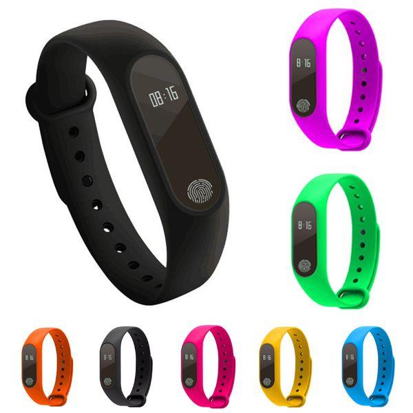 81f70986ab9a 7 colores Sport Reloj de pulsera Inteligente Pulsera Pantalla Fitness Run  Step Walking Calorie Counte Gauge