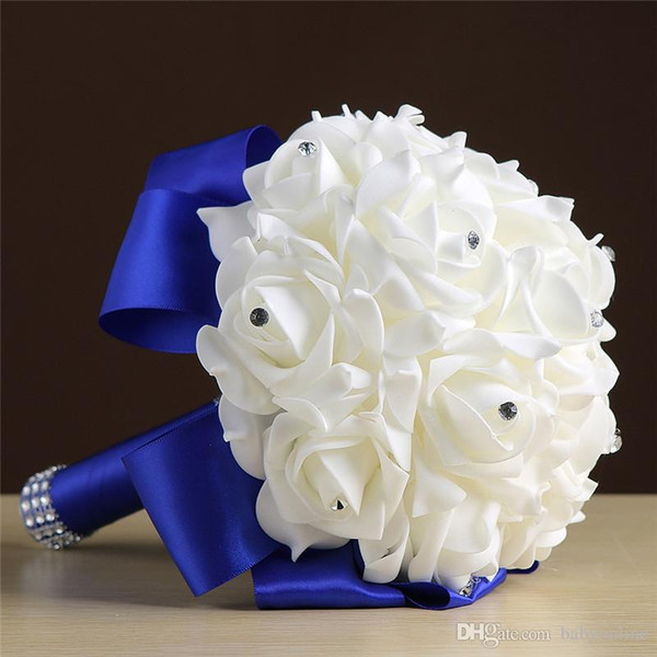 Cheap Handmade Bridesmaid Wedding Decoration Foam Flowers Rose