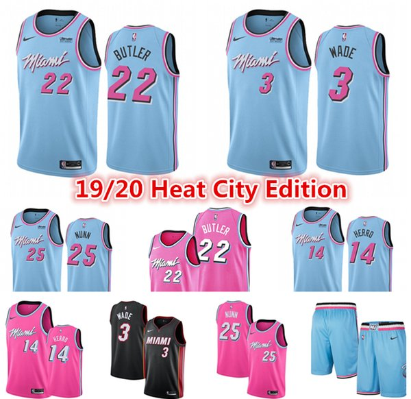 Dwayne 3 Wade Miami Heat Jersey Men S Pink Jimmy 22 Butler 14 Tyler Herro Kendrick 25 Nunn City Blue Edition Basketball Jerseys Black Red Buy At The Price Of 15 97 In Dhgate Com Imall Com