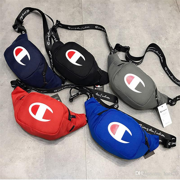 Tide Brand Waist Bag for Teenager Fashion Mens Chest Bag for Outdoor Sports Women Crossbody Bag with Logo