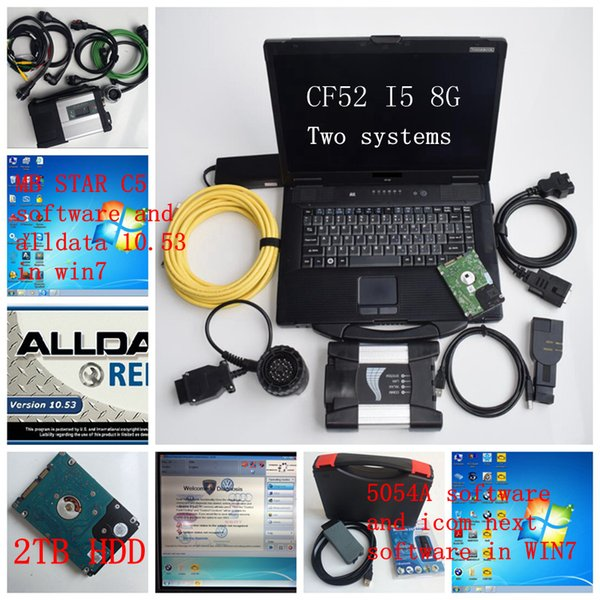 VAS 5054A ODIS V4.4.1 Full OKI Chip and ICOM NEXT and mb star c5 and alldata 10.53 Diagnostic Scanner with CF52 i5 8g laptop win7 2TB HDD