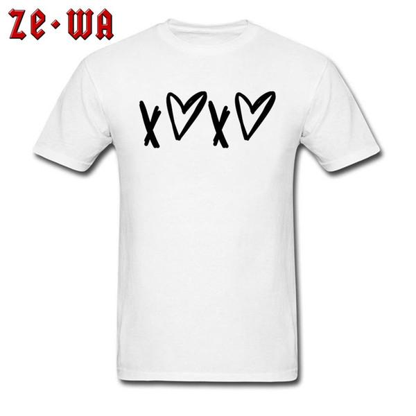 Magliette da uomo più nuove 2018 Stampa maglietta a manica corta 100% cotone Love in bianco e nero Le migliori magliette Drop Shipping