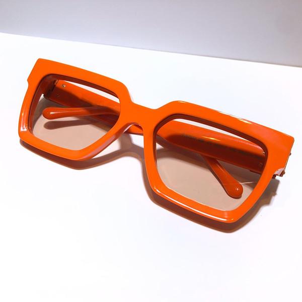 lente luz laranja