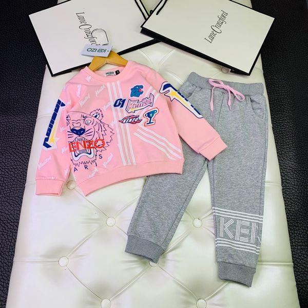 Boys Sweatshirts sets kids designer clothing Tiger head print pullover + sweatpants 2pcs Autumn fashion new boys and girls trousers sets