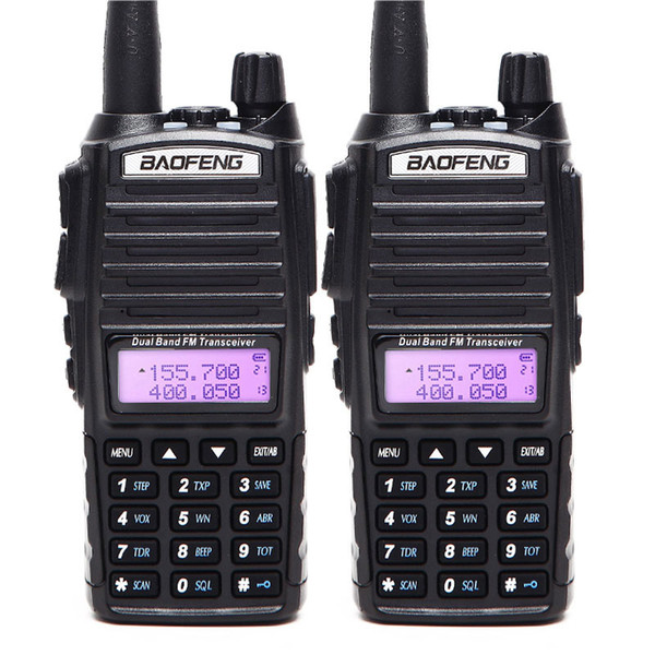 best selling 2PCS Walkie Talkie BaoFeng UV-82 Dual-Band 136-174 400-520MHz FM Ham Dual PTT Baofeng UV 82 UV82 two way radio