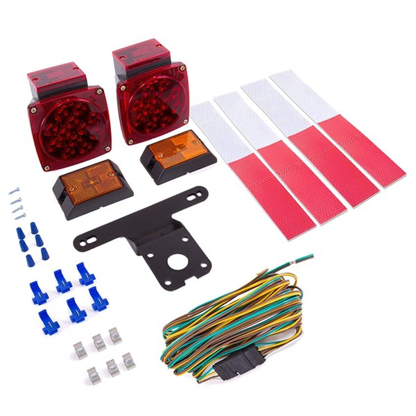 12v Led Trailer Light Kit | Utility Bulbs For Easy Assembly | Submersible Tail Lights For: Rv, Marine, Boat, Trailer + For All