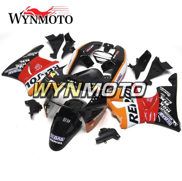 Repsol Rojo Naranja Negro ABS Plástico Juego de carenado completo para Honda CBR900RR 919 Año 1998 1999 CBR900 RR 98 99 cbr 900rr Carrocería de motocicleta Nuevo