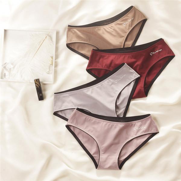Cintura baixa Sexy Briefs para Mulheres Designer de Roupa Interior Respirável com Letras Impressas de Alta Qualidade Senhoras Cuecas Esportes