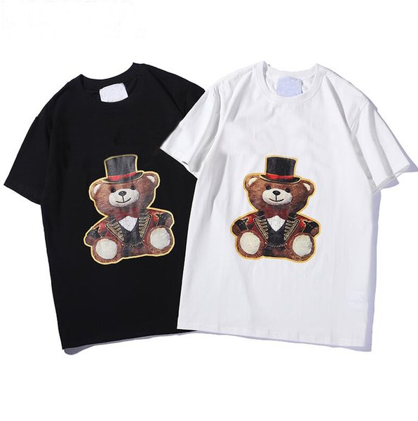 4aa4b997 Luxury Designer T Shirts For Men Fashion Tshirt With Animal Letters  Printted Summer Short Sleeve Tee Shirt Tops Clothing 2 Styles S-2XL