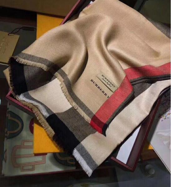 Brand New Fashioh Brand Scarf Women Cashmere Scarves Plaid design Scarf Women thick long Shawls size 180x70cm 8 Coloe No Box