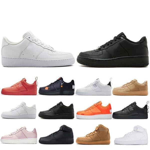 Yeni Stil 1 s Dunk Programı Klasik Kaykay Rahat Ayakkabılar Yüksek düşük kesim Yeşil Üçlü Beyaz siyah Buğday erkekler kadınlar Spor sneakers Ayakkabı