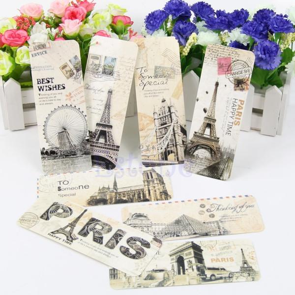 best selling 30pcs Different European Scenes Vintage France Paris Eiffel Tower Bookmark Set