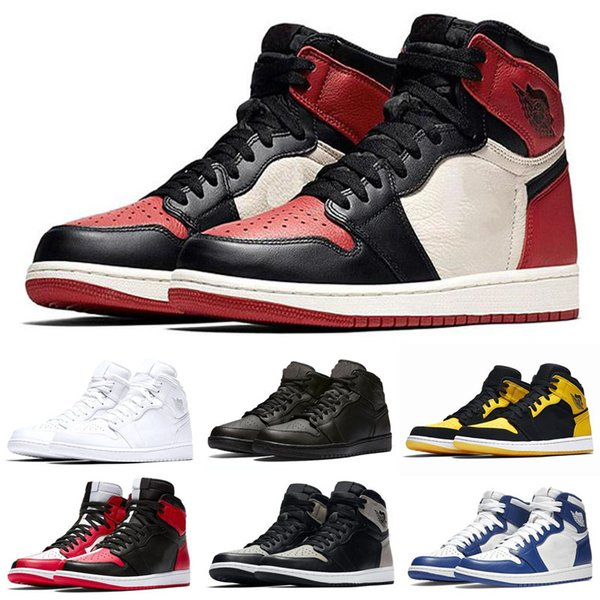 14fa2991 Cheap 1 top 3 Banned Bred Toe Chicago OG 1s Game Royal Blue mens basketball  shoes
