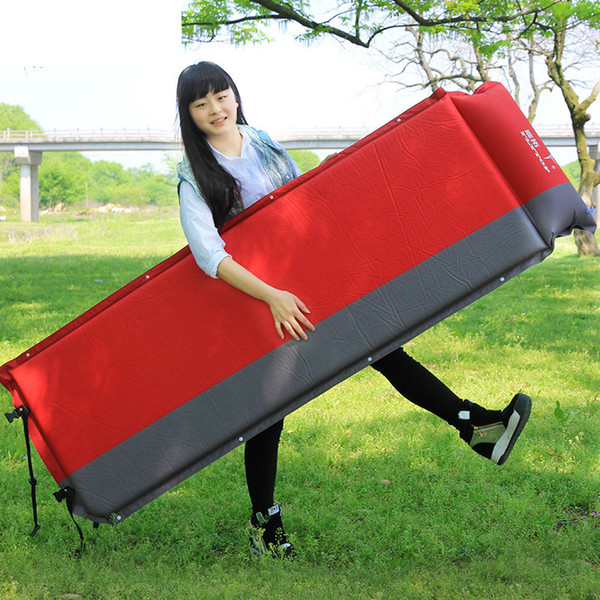 Automatic Inflatable Single Person Cushion Lengthen Widen Thickening Outdoor Pads Collapsible Moisture Proof Noon Break Camping Mat 85ftE1