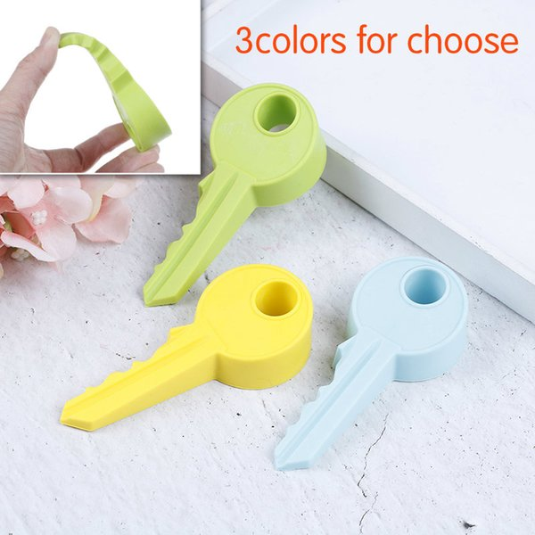 Hot Silicone Rubber Door Stopper Cute Key Style Home Decor Finger Safety Protection Wedge Kid Baby Safe Doorstop