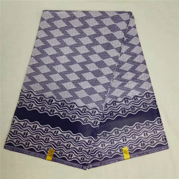 Tissu africain imprimé 6 verges de tissu africain en gros pas cher cire java cire Ankara pour robe NA031353