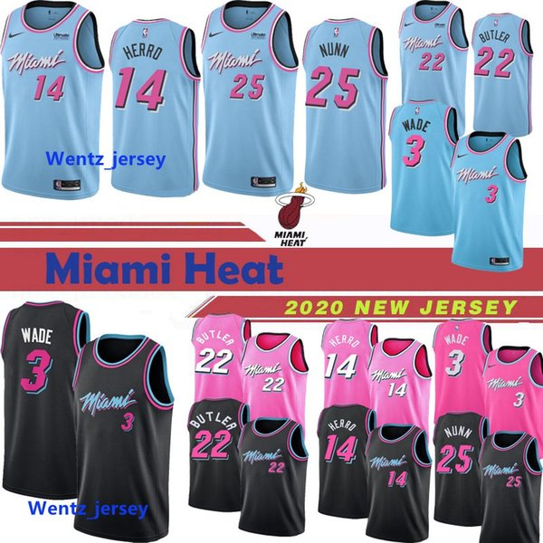 New Dwyane 3 Wade Mens Kids Miami Heat Basketball Jersey Jimmy 22 Butler 14 Tyler Herro Kendrick 25 Nunn City Edition Jerseys Blue Black Red Buy At The Price Of 16 57 In Dhgate Com Imall Com