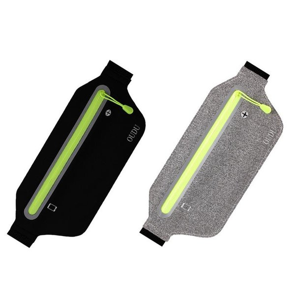 Running Waist Bag Travel Pocket Waterproof Sports Fitness Hiking Yoga Belt With Headphone Holes For IPhone And Android Phones #614638