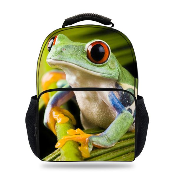 15inch 3D Animal Felt Backpack For Kids School Frog Backpacks For Children Boys Girls Bookbags