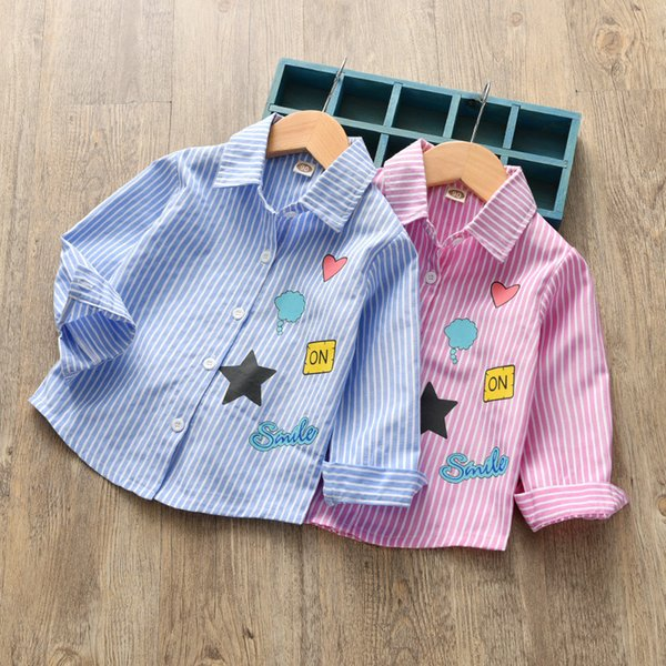good quality 2019 spring autumn girls shirts cotton long sleeve clothing children girls fashion princess coats brand sports tops