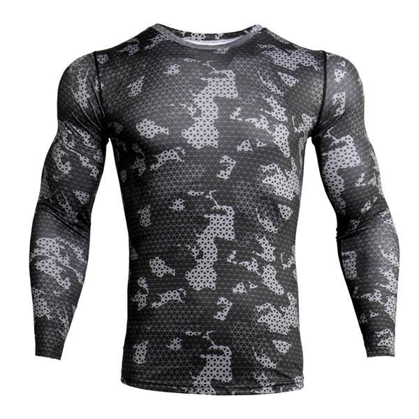 MyKiT Nuova manica corta Sport Shirt Men Quick Dry maschili in esecuzione magliette Snake Palestra Abbigliamento Fitness Principali Uomini Rashgard 040