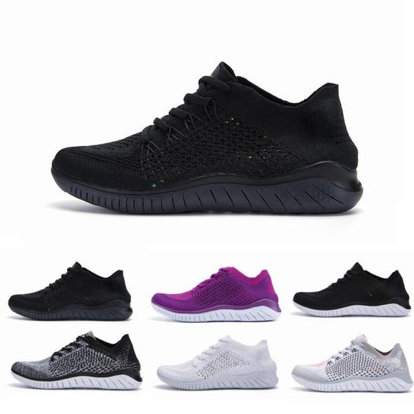 Compre 2019 Nike Free Rn Flyknit 2018 Trainers Hombres Diseñadores De Cojines Zapatillas De Deporte Hombre Negro Blanco Athletic Senderismo Jogging