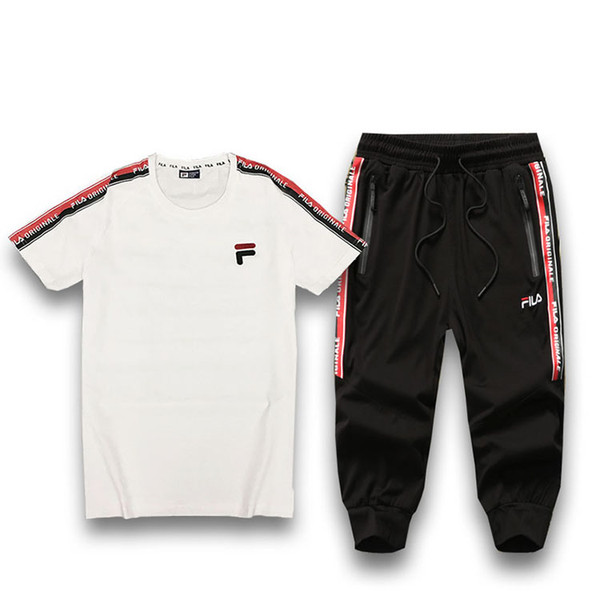 Active Style Designer Tracksuits for Men Summer Explosion Short Sleeve Tops + Pants Two Piece with Embroid Printed Women Brand Sport Suits