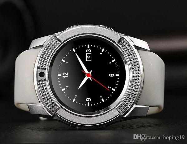 Hot V8 Smart Watch Soporte TF Tarjeta SIM Wireless Bluetooth Smartwatch para teléfonos inteligentes iPhone Android Samsung Teléfonos móviles
