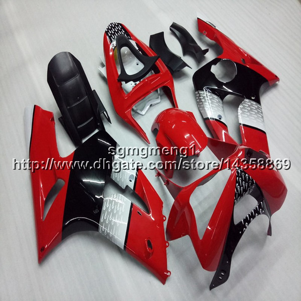23colors+Gifts Injection mold red white motor panels ZX6R 03-04 motorcycle cowl for kawasaki ZX-6R 2003-2004 ABS Plastic Fairing