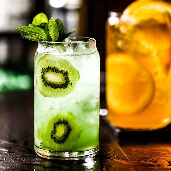 380ML facile à tirer en verre anneau-pull peut zip-top peut citron thé personnalisé boisson boisson jus tasse de lait créatif Cocktail Mug LJJA2445