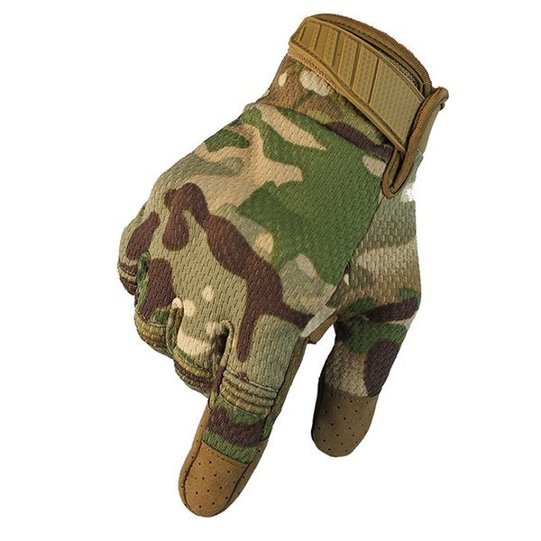 Touch Screen Multicam Camouflage Tactical Gloves Army Outdoor Climbing Shooting Paintball Full Finger Gloves