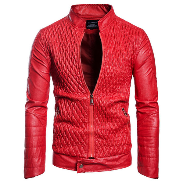 Mens Jackets Coats Motorcycle Biker Leather Jacket Men Autumn Winter Clothes Male Classic Thick Coat Outwear Tops Clothes