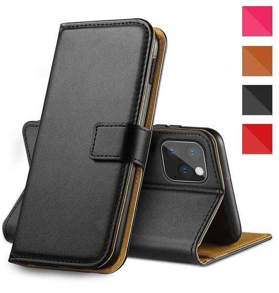 Wholesales Роскошный кожаный флип карт бумажника случая телефона крышка для Apple iPhone 11 Pro Max X оболочки для Iphone 6 7 8 хт xsmax