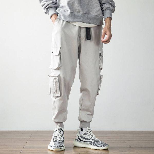 2019 Cool Men Hip Hop Streetwear Fashion Cotton Cargo Pant Multi Pocket Casual Pants Male Harem Trousers Jogger Sweatpants Mens