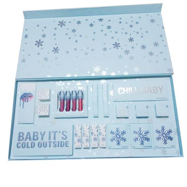 2018 Newest Makeup sets The Holiday Collection Liquid Matte lipsticks kit Eyeshadow Palette Gloss Highlighter Christmas Gift kitDHL shippin