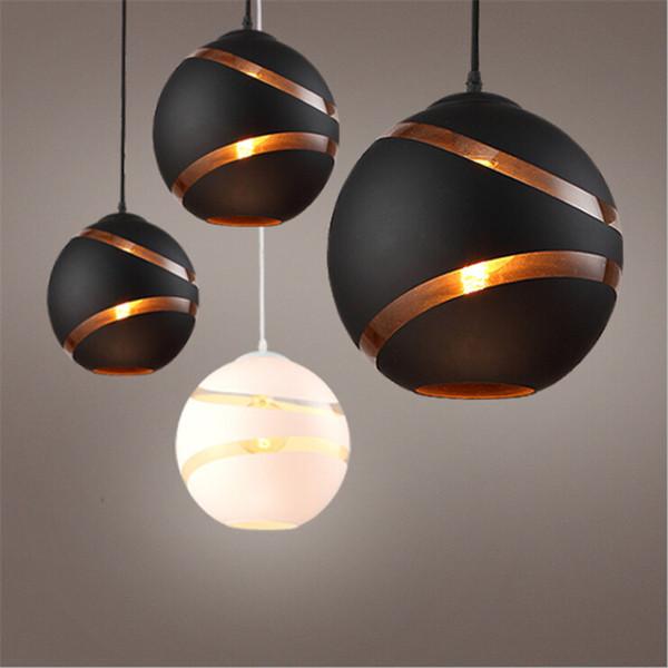 Bola de cristal redonda nórdica Luces colgantes E27 LED Lámpara colgante colgante Luminaria de diseño Minmalist Loft Lights para niños Sala de estar