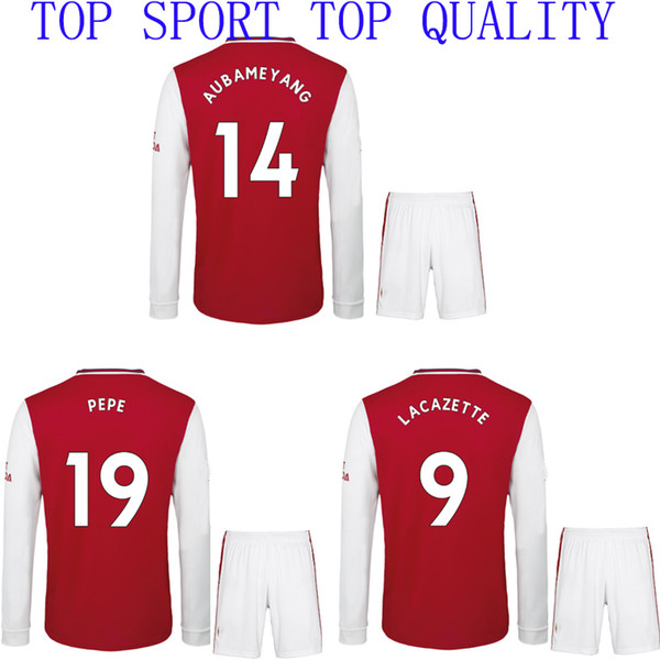 19 20 ARS Long Sleeves Soccer Jerseys and Shorts Home Red Football Sets Adults Full sleeve Football Tops and Pants Sports Uniforms