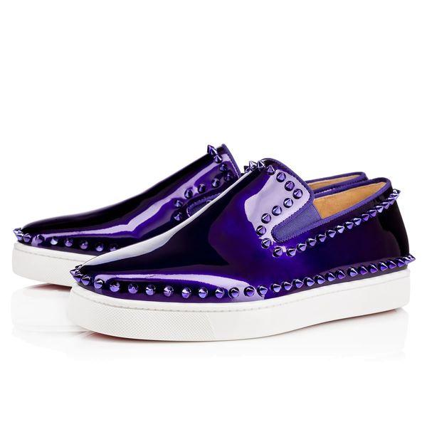 Fashion Paris Pik Spikes Boat Sneakers Flat Red Bottom Loafers Shoes Women,Men Gentleman Oxford Luxury Designer Walking Flats EU35-46