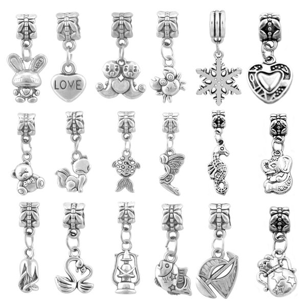 best selling New Arrival Mix Style Big Hole Loose Beads Charm For Pandora Bracelet Jewelry Making For Women DIY European Bracelets