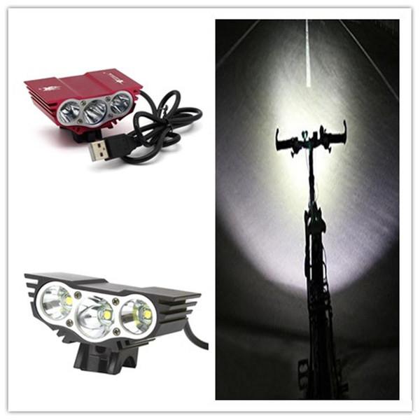 Taschenlampen X3 wasserdicht Mini Led Fahrrad Licht Scheinwerfer XM-L LED Fahrrad Licht Scheinwerfer + Ladegerät + Akku 2500ML